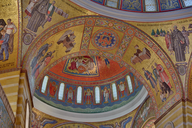 Cathedral Basilica of Saint Louis, in Saint Louis, Missouri, USA - ceiling detail
