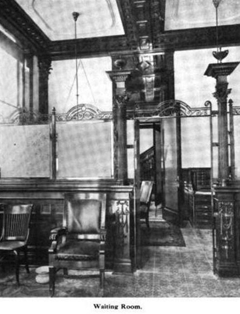 Sala de espera del banco banco mercantil de monterrey 1909 for Google banco exterior