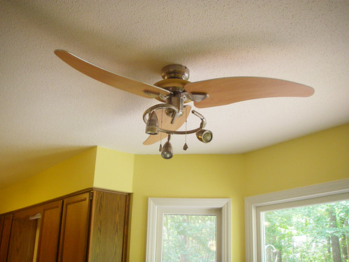 A long overdue ceiling fan upgrade for the kitchen - Ceiling fan for kitchen with lights ...