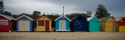 Bright beach boxes