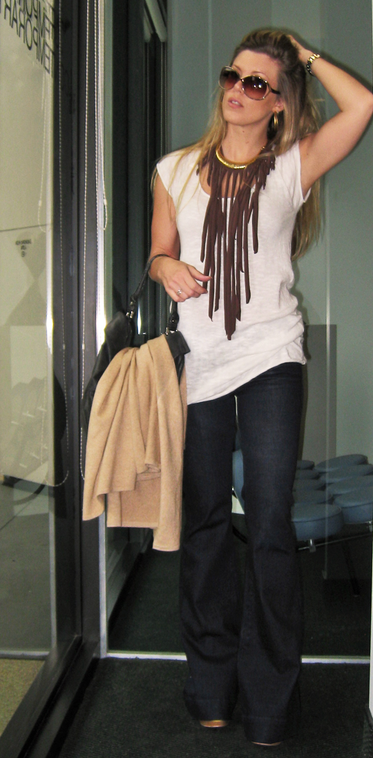 Fringe Necklace and Jeans