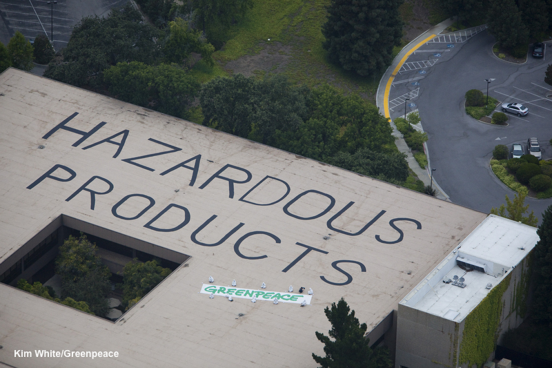 Greenpeace action at HP HQ