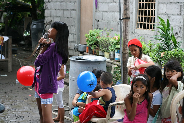 Karaoke in a Philippines village