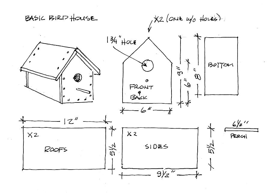Free plans to build birdhouses floor plans Blueprints of houses to build