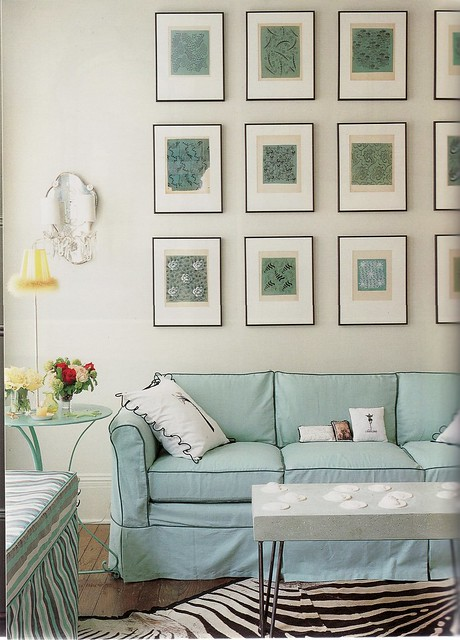 An Old Picture From My Files   I Saved The Picture Because I Thought The  Framed Series Above The Sofa Was Beautiful. Interior Design By Angele  Parlange.