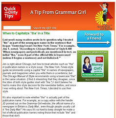 Grammar tips, Quick and dirty with Grammar Girl