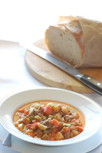 lamb & veggie soup