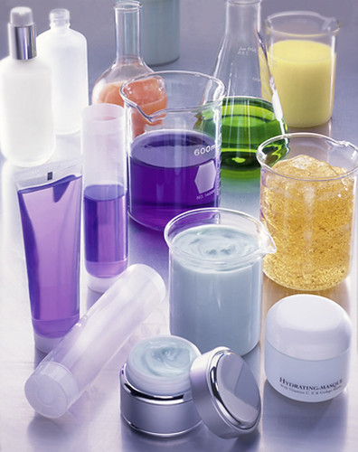 skincare beakers science