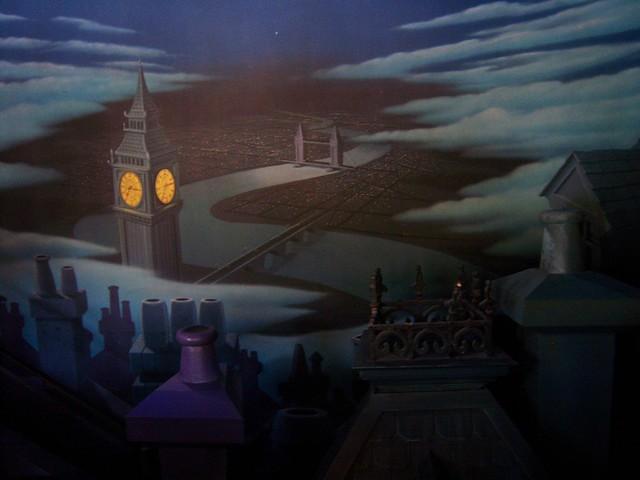 London scene on Peter Pan's Flight wall from Flickr via Wylio