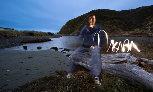 morning light beach rain sunrise painting torch wellington karori flashlight drizzle makara