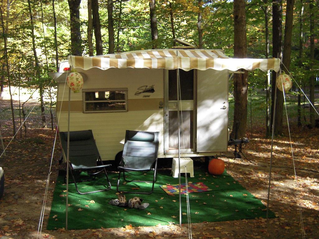 Vintage Camper Awning Vintage Camper Arched Canopy Bedding