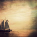 textured sailboat by lgperspectives