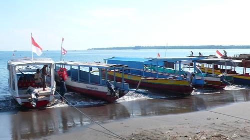 Bangsal Port in Lombok