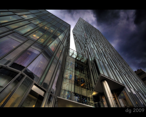 sky detail building glass japan shop architecture modern clouds photoshop canon tokyo asia raw wide aoyama 1740mm hdr smoked photomatix tonemapped enhancer 5dmarkii unusualviewsperspectives