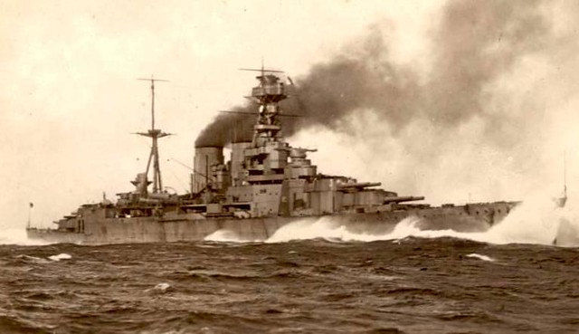 HMS Hood running trials 1920