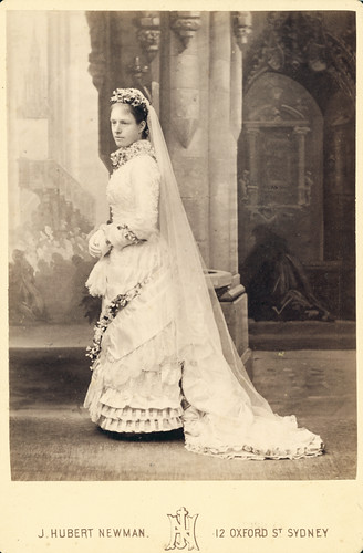 Woman in wedding dress, 1850