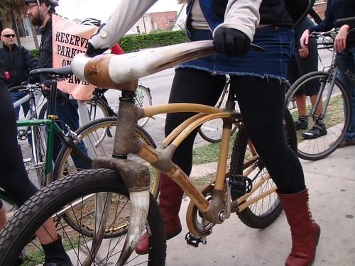 Bamboo and Cow Bike - Bikehugger Mobile Social - SXSWi 2009