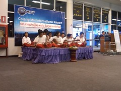 Lanna Youth Traditional Music at Chiang Mai Airport