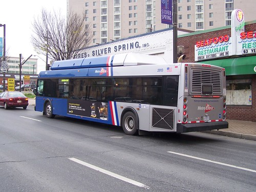 Route 79 Express bus, Georgia Avenue, Silver Spring