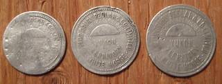 YUKON TERRITORY, CANADA, WHITEHORSE ---TAYLOR, DRURY and PEDLAR, MERCHANT'S TOKENS 1912-21 a