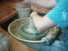 wheel(0.0), art(1.0), clay(1.0), pottery(1.0), potter's wheel(1.0), ceramic(1.0), craft(1.0),