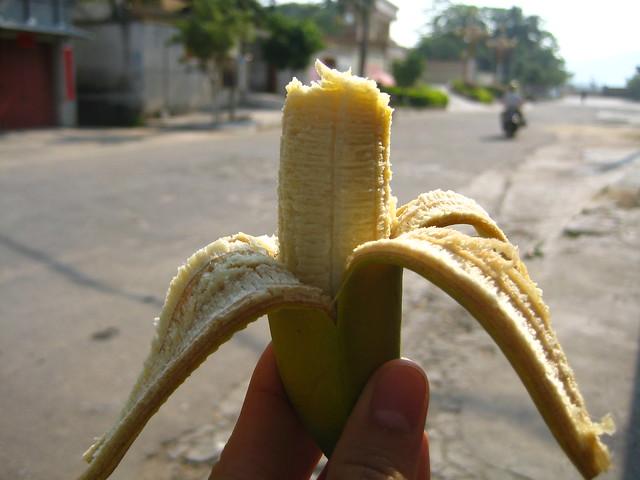 Half-eaten Banana