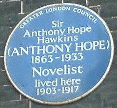 Photo of Anthony Hope Hawkins blue plaque