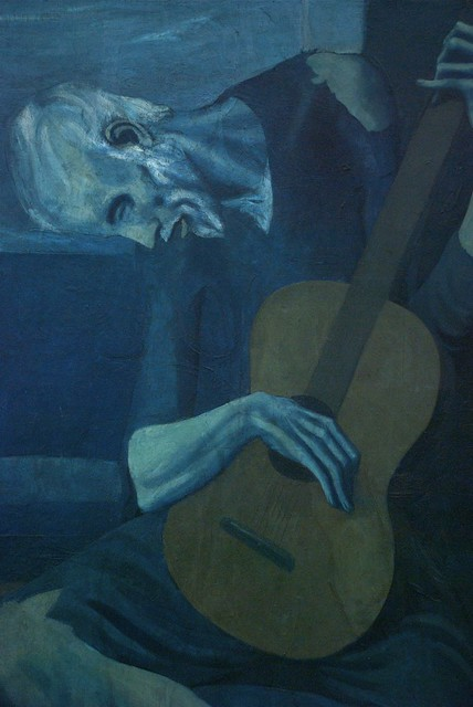 the old guitarist These unique old guitarist art socks by picasso embody human suffering, and accurately represents his empathy for the plight of the downtrodden and destitute.