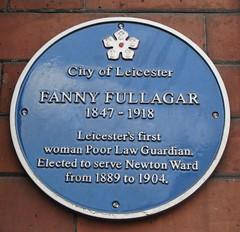 Photo of Fanny Fullagar blue plaque