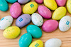Easter pastel colored coconut M&Ms