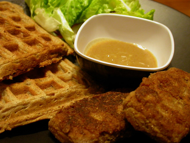 Beer Battered Chicken Fried Tofu with Waffles | Flickr - Photo Sharing ...