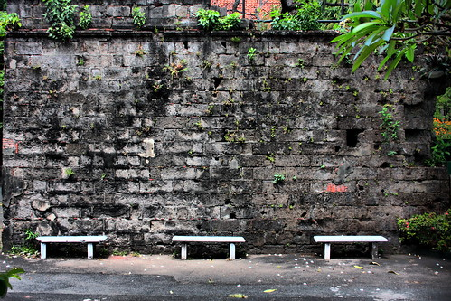 Three benches Fort Santiago
