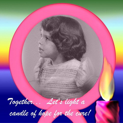 Together... Let's light a candle of hope for the cure!