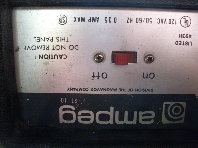Photo:Ampeg GT 10 Power Switch By Roadside Guitars