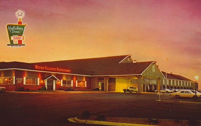 Holiday Inn and Seven Villages Restaurant - Amana, Iowa U.S.A. - 1970s