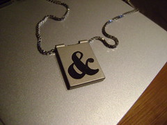 Ampersand inlay pendant