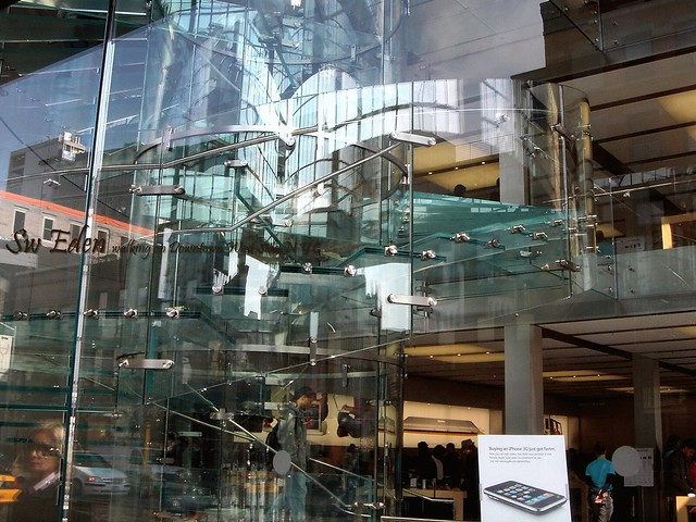 Apple Store Glass Stair Solid and Void