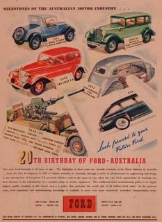 1945 Ford Australia 20th Anniversary Ad