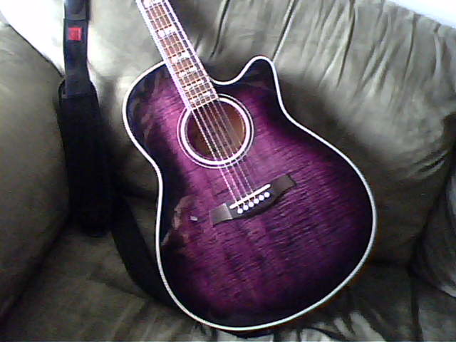 Yamaha Acoustic Guitar Purple