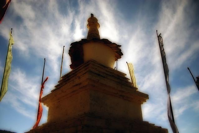 A Chorten stupa in Tang Ogyen Choling