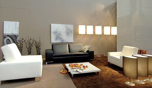 modern furniture arrangement
