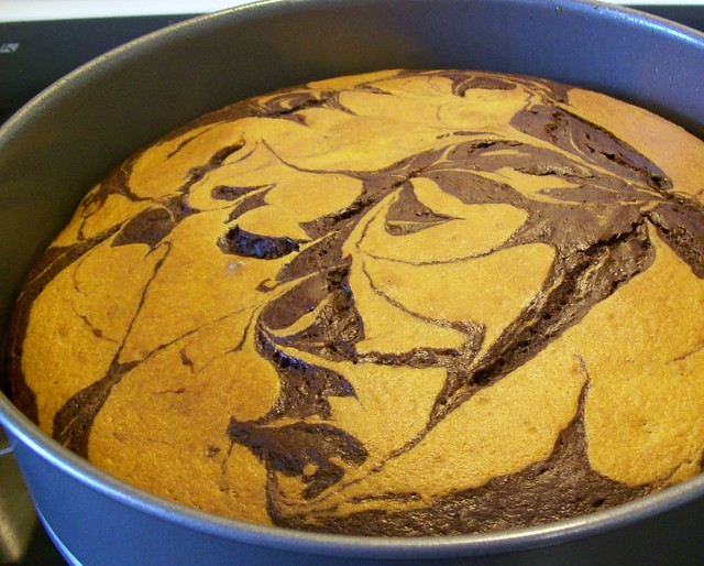 Chocolate Marble Sheet Cake Recipe
