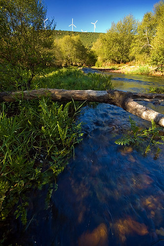 Eria River, Zamora, Spain. Slow shutter speed handheld