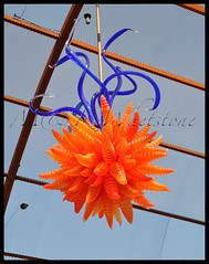 Dale Chihuly's Orange Hornet and Eel Grass Chandelier
