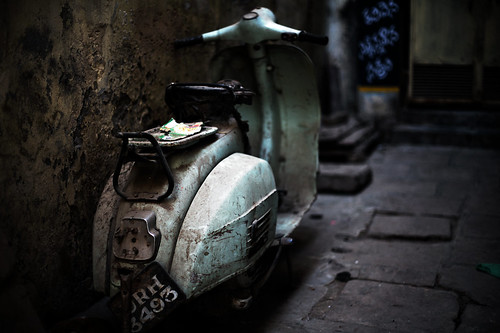 Homeless Vespa