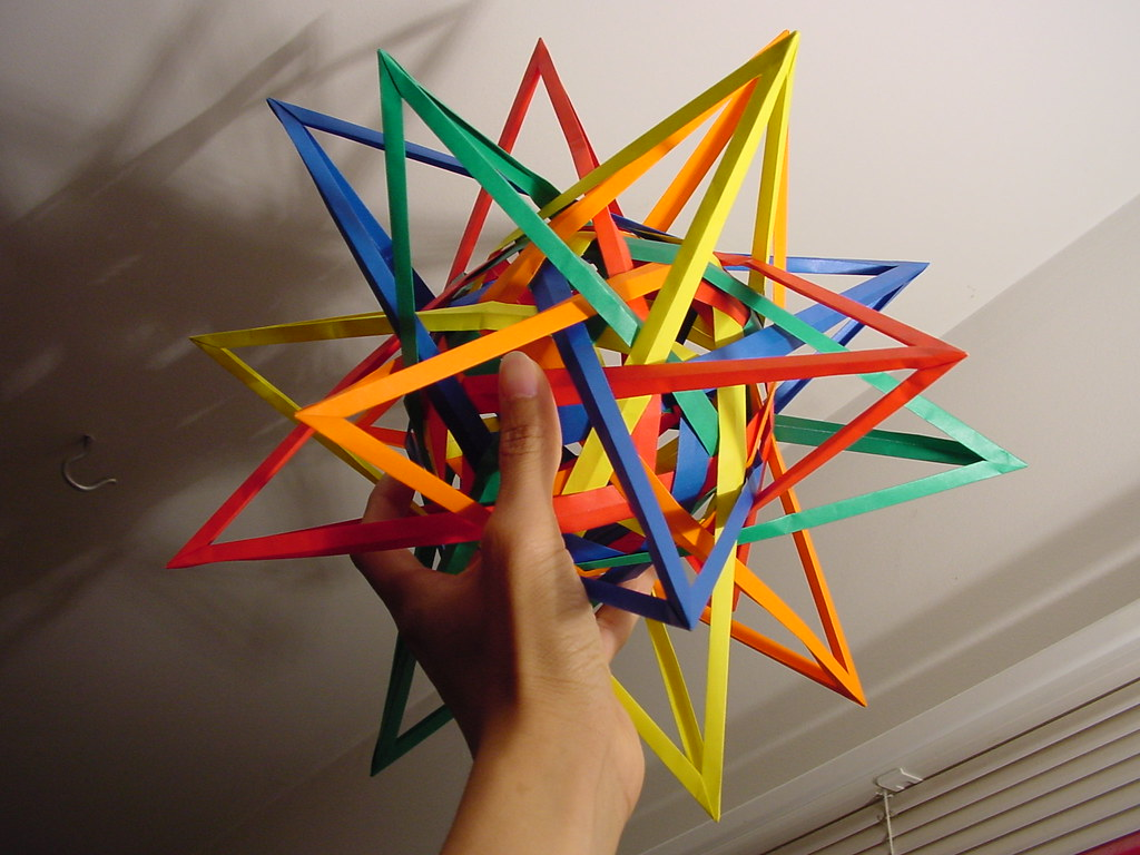 Origami Six Pentagonal Prisms (Daniel Kwan) - YouTube | 768x1024