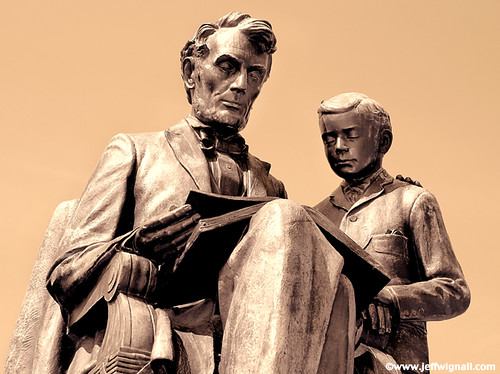 Abraham Lincoln and Todd Lincoln Statue