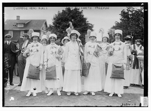 Suffrage news girls - Liz Freeman  (LOC)