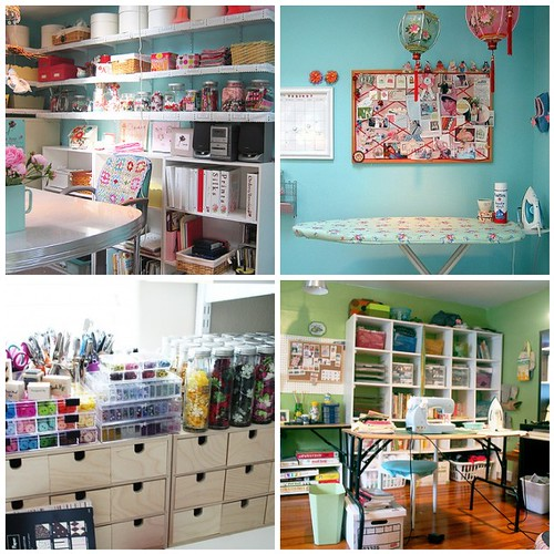 Craft room ideas casual cottage for Pictures of craft rooms