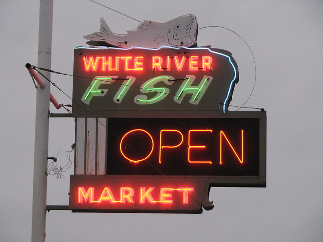 white river fish market neon sign flickr photo sharing